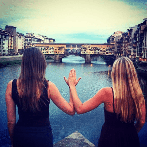 Like a local: Took my backpacking sorority sister to my favorite gelateria, ristorante, and view in Florence