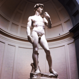 Accademia di belle arte dell'Firenze, Florence. The easierst way is to do this is to fall in love with an Italian man, just like I did with David.