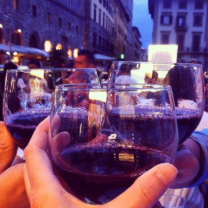 Piazza di Santa Croce, Florence: Enjoy a glass of wine in one of Firenze's bustling piazzas.