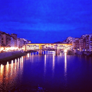 Ponte Santa Trinita, Florence: Even the walk home from a night out is better in Firenze.