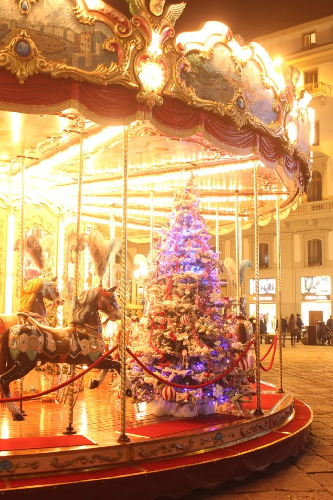 Christmas. Piazza Repubblica. Florence, Italy.