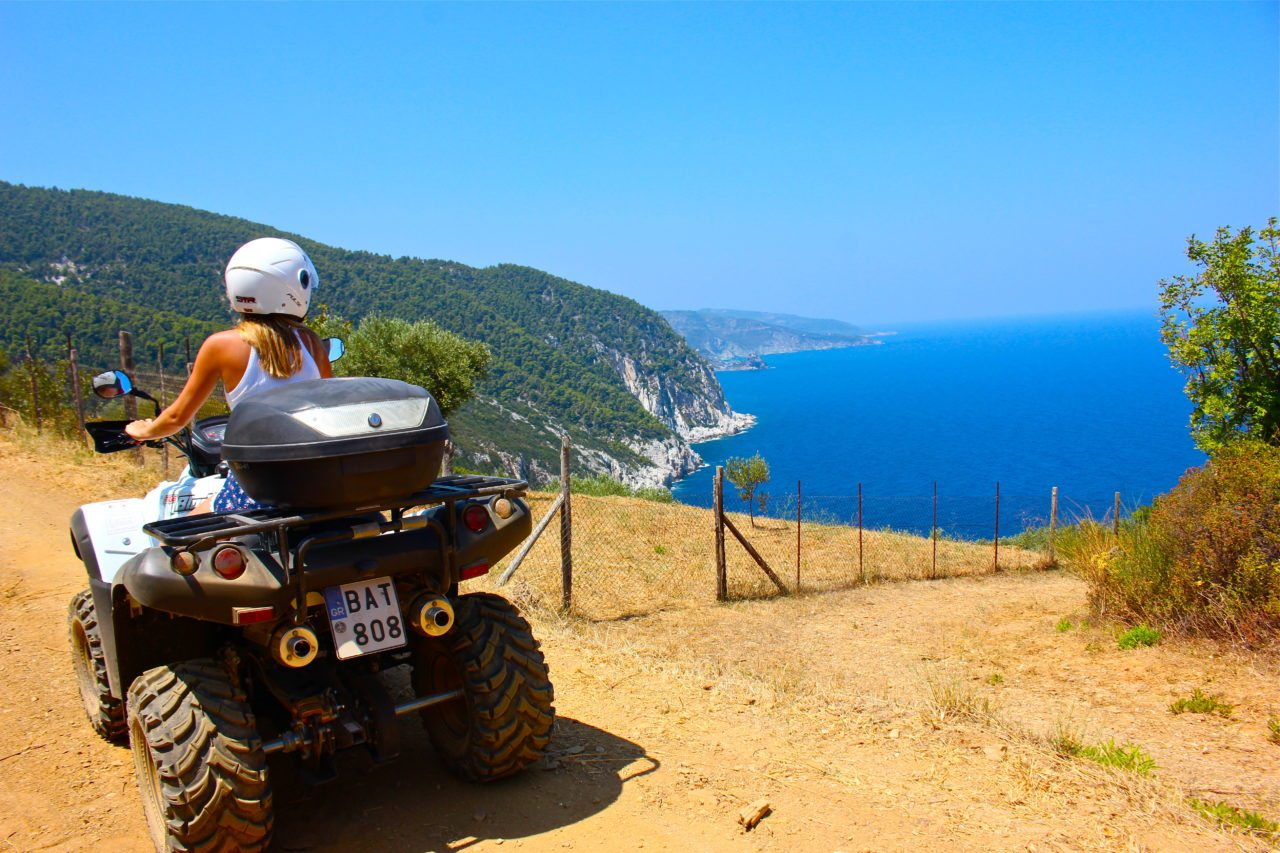 ATV Skopelos Greece