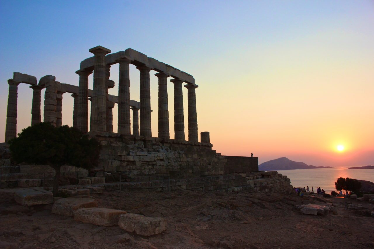 Temple of Poseidon Sounion. Athens, greece