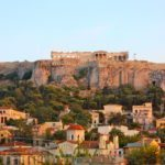 athens acropolis sunset rooftop